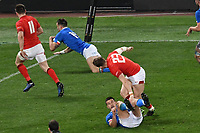 Edoardo Padovani Italy scores a try <br /> Roma 9-02-2019 Stadio Olimpico<br /> Rugby Six Nations tournament 2019  <br /> Italy - Wales <br /> Foto Andrea Staccioli / Resini / Insidefoto