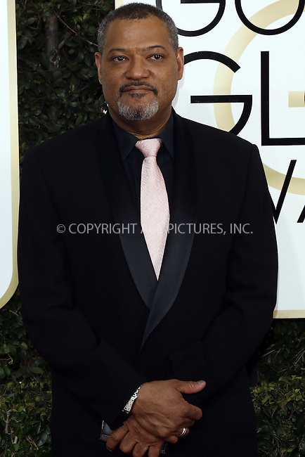 www.acepixs.com<br /> <br /> January 8 2017, LA<br /> <br /> Lawrence Fishburne arriving at the 74th Annual Golden Globe Awards at the Beverly Hilton Hotel on January 8, 2017 in Beverly Hills, California.<br /> <br /> By Line: Famous/ACE Pictures<br /> <br /> <br /> ACE Pictures Inc<br /> Tel: 6467670430<br /> Email: info@acepixs.com<br /> www.acepixs.com