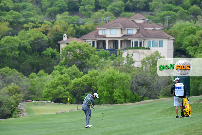 Jon Rahm (ESP) hits his approach shot on 2 during day 3 of the WGC Dell Match Play, at the Austin Country Club, Austin, Texas, USA. 3/29/2019.<br /> Picture: Golffile | Ken Murray<br /> <br /> <br /> All photo usage must carry mandatory copyright credit (© Golffile | Ken Murray)