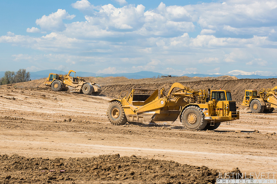 Earthmovers are hard at work at the new St. Anthony Medical Campus off of 144th Ave and I-25.