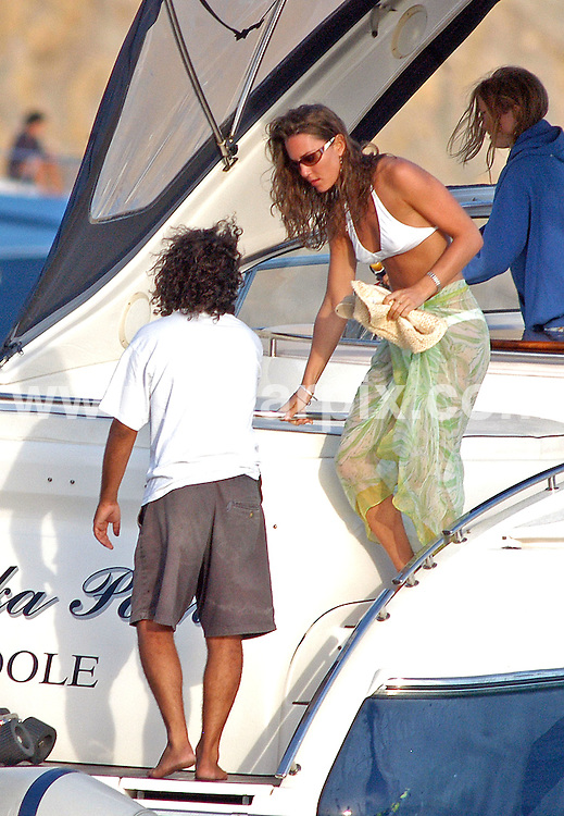 **ALL ROUND EXCLUSIVE PICTURES FROM SOLARPIX.COM**.**MINIMUM PUBLICATION FEE PER PICTURE £500.00**.**WORLDWIDE SYNDICATION RIGHTS**.**NO INTERNET USAGE WITHOUT PRIOR AGREEMENT**.Prince William and  then girlfriend Kate Middleton relaxing  with friends & her sister Pippa ,brother James mum & dad Carole & Michael Middleton on a boat on Formentera near the island of Ibiza in Spain. 1st September 2006 kate went on to marry Prince William on the 29.04.2011.This pic: Kate Middleton .JOB REF: 13307 AB1_ROJ_MAD  DATE: 01_09_2006.**MUST CREDIT SOLARPIX.COM OR DOUBLE FEE WILL BE CHARGED* *UNDER NO CIRCUMSTANCES IS THIS IMAGE TO BE REPRODUCED FOR ANY ONLINE EDITION WITHOUT PRIOR PERMISSION*