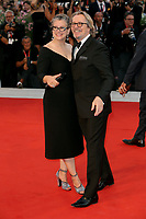 "VENICE, ITALY - SEPTEMBER 01: Gisele Schmidt and Gary Oldman walk the red carpet ahead of the ""The Laundromat"" screening during the 76th Venice Film Festival at Sala Grande on September 01, 2019 in Venice, Italy.   (Photo by Mark Cape/Insidefoto)<br /> Venezia 01/09/2019"