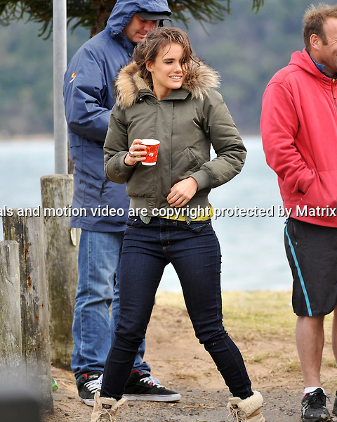 29th July, 2014 SYDNEY AUSTRALIA<br /> EXCLUSIVE <br /> Pictured, Pregnant cast members and not preggers of Home and Away doing scenes in a bus at Palm Beach  (Summer Bay).<br /> <br /> *No internet without clearance*.MUST CALL PRIOR TO USE +61 2 9211-1088. Matrix Media Group.Note: All editorial images subject to the following: For editorial use only. Additional clearance required for commercial, wireless, internet or promotional use.Images may not be altered or modified. Matrix Media Group makes no representations or warranties regarding names, trademarks or logos appearing in the images.