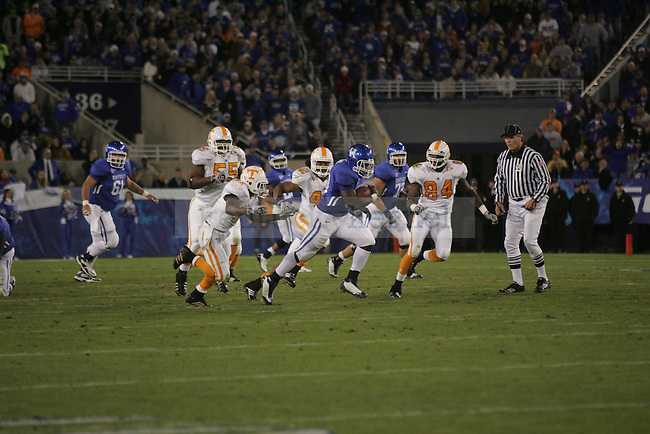 Fullback John Conner runs the ball during the first half of the UK football game against Tennessee on Saturday, Nov. 28, 2009 at Commonwealth Stadium. The Cats were ahead of the Vols 21-14 at the half.
