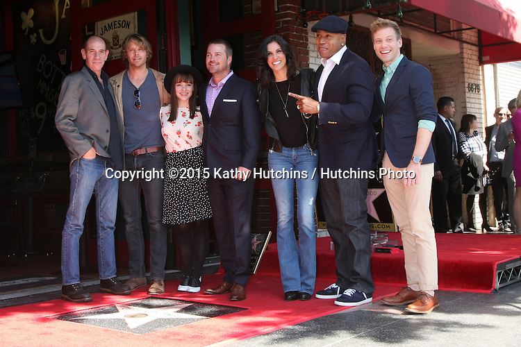 LOS ANGELES - MAR 5:  Chris O'Donnell, Miguel Ferrer, Eric Christian Olsen, Renee Felice Smith, Daniela Ruah, LL Cool J, Barrett Foa at the Chris O'Donnell Hollywood Walk of Fame Star Ceremony at the Hollywood Blvd on March 5, 2015 in Los Angeles, CA