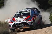 6th October 2017, Costa Daurada, Salou, Spain; FIA World Rally Championship, RallyRACC Catalunya, Spanish Rally; Jari Matti Latvala - Miikka Antilla of Toyota Gazoo Racing WRT during the SS1 in Caseres
