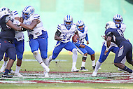 Washington, DC - September 16, 2016: Hampton Pirates running back Dwayne Garrett (24) follow his blocks during game between Hampton and Howard at  RFK Stadium in Washington, DC. September 16, 2016.  (Photo by Elliott Brown/Media Images International)