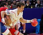 Kasper Sondergaard Sarup of Denmark in action during men`s EHF EURO 2012 handball championship final game between Serbia and Denmark in Belgrade, Serbia, Sunday, January 29, 2011.  (photo: Pedja Milosavljevic / thepedja@gmail.com / +381641260959)