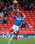 03.03.2019 Aberdeen v Rangers: Alfredo Morelos and Andrew Considine