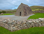 County Kerry, Ireland: Gallarus Oratory on the Dingle Peninsula, an early Christian church built some time between the 6th and 9th century.