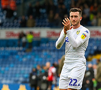 Leeds United's Jack Harrison applauds the fans after the match<br /> <br /> Photographer Alex Dodd/CameraSport<br /> <br /> The EFL Sky Bet Championship - Leeds United v Brentford - Saturday 6th October 2018 - Elland Road - Leeds<br /> <br /> World Copyright &copy; 2018 CameraSport. All rights reserved. 43 Linden Ave. Countesthorpe. Leicester. England. LE8 5PG - Tel: +44 (0) 116 277 4147 - admin@camerasport.com - www.camerasport.com