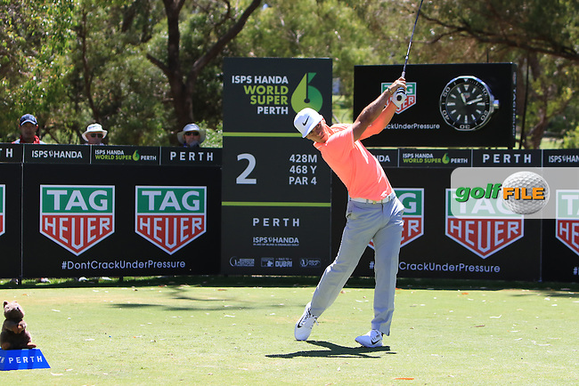 Thorbjorn Olesen (DEN) on the 2nd tee during Round 3 of the ISPS Handa World Super 6 Perth on Saturday 18th February 2017.<br /> Picture:  Thos Caffrey / Golffile<br /> <br /> All photo usage must carry mandatory copyright credit     (&copy; Golffile | Thos Caffrey)