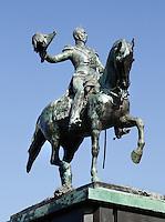Standbeeld van Willem 2  bij het Binnenhof in Den Haag