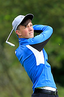 Kian Connaughton (Galway Bay) on the 1st tee during the Connacht U12, U14, U16, U18 Close Finals 2019 in Mountbellew Golf Club, Mountbellew, Co. Galway on Monday 12th August 2019.<br /> <br /> Picture:  Thos Caffrey / www.golffile.ie<br /> <br /> All photos usage must carry mandatory copyright credit (© Golffile | Thos Caffrey)