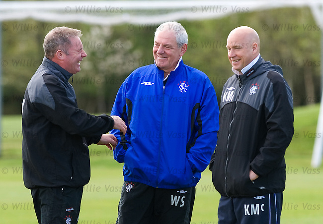 Walter Smith with Ally McCoist and Kenny McDowall