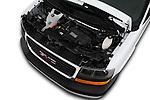 Car Stock 2018 GMC Savana-Passenger 3500-LS-Ext 5 Door Passenger Van Engine  high angle detail view