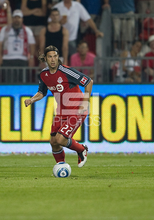 Toronto FC midfielder Torsten Frings #22 in action during an MLS game between the FC Dallas and the Toronto FC at BMO Field in Toronto on July 20, 2011..FC Dallas won 1-0.