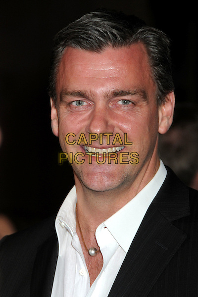 "RAY STEVENSON .at Alcon Entertainment's L.A. Premiere of ""The Book of Eli"" held at The Chinese Theatre in Hollywood, California, USA, .January 11th 2010. .portrait headshot smiling white shirt .CAP/ADM/BP.©Byron Purvis/AdMedia/Capital Pictures."