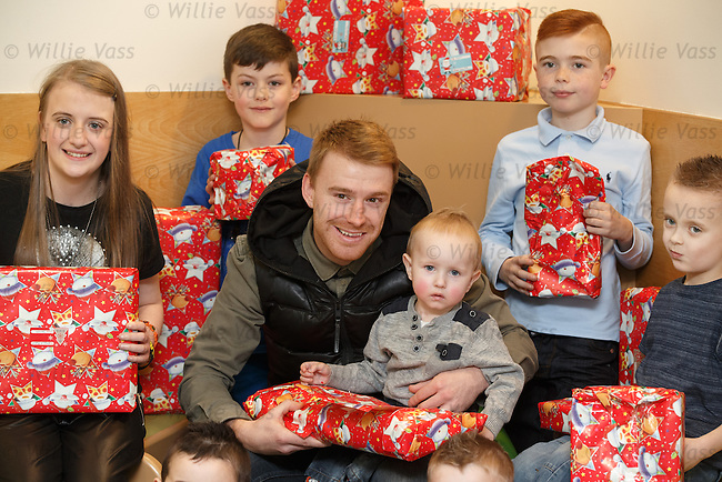 Rangers defender Stevie Smith visits the Southbank Child Development Centre in Glasgow on behalf of the Rangers Charity Foundation's commitment to supporting Yorkhill Children's Charity