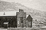 The ghost town of Bodie, California, State Historic Park.<br /> <br /> *digitally modified--removal of building behind barbershop.