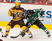 Taylor Cammarata (MN - 13), Rocco Grimaldi (North Dakota - 19) - The University of Minnesota Golden Gophers defeated the University of North Dakota 2-1 on Thursday, April 10, 2014, at the Wells Fargo Center in Philadelphia to advance to the Frozen Four final.