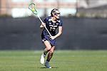 DURHAM, NC - FEBRUARY 26: Notre Dame's Katherine Eilers. The Duke University Blue Devils hosted the University of Notre Dame Fighting Irish on February, 26, 2017, at Koskinen Stadium in Durham, NC in a Division I College Women's Lacrosse match. Notre Dame won the game 12-11.