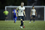 Brad Dunwell (12) of the Wake Forest Demon Deacons during first half action against the Duke Blue Devils at W. Dennie Spry Soccer Stadium on September 29, 2018 in Winston-Salem, North Carolina.  The Demon Deacons defeated the Blue Devils 4-2.  (Brian Westerholt/Sports On Film)