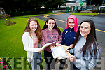 Katie Ahern (Tralee), Doireann Morgan (Tralee), Muireann McLouglin (Listowel) and Sarah Gavaghan (Tralee), students from Presentation Secondary School, Tralee, who received their Leaving Certificate results on Wednesday morning last.