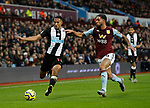 Isaac Hayden of Newcastle United and Douglas Luiz  of Aston Villa during the Premier League match at Villa Park, Birmingham. Picture date: 25th November 2019. Picture credit should read: Darren Staples/Sportimage