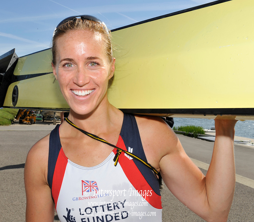 Caversham, Great Britain,   GBR W2-, Helen GLOVER,  GB Rowing media day, 2013 World Cup Team Announcement  at the Redgrave Pinsent Rowing Lake. GB Rowing Training centre. Wednesday  05/06/2013  [Mandatory Credit. Peter Spurrier/Intersport Images]