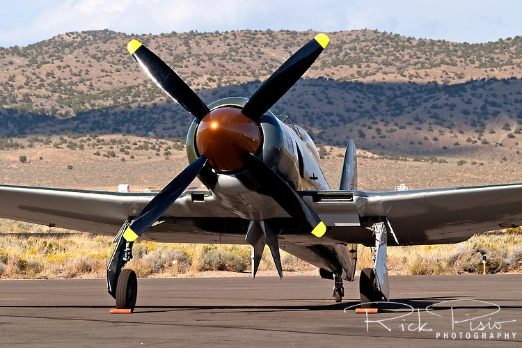 Howard Pardue owned Hawker Sea Fury 'Fury' on the ramp at the Reno National Championship Air Races.