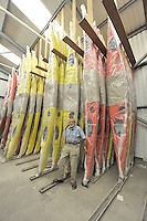 Nottingham, United Kingdom, Frank GOODMAN, at the Valley Canoe Products Ltd, company he started.   Saturday 12/09/2009, England  [Mandatory Credit. Peter Spurrier/Intersport Images]