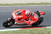 14.06.2013 Barcelona, Spain. Gran Premi Aperol de Catalunya. Free practice 1. Picture show Nicky Hayden riding Ducati at Circuit de Catalunya