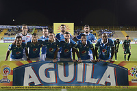 BOGOTÁ -COLOMBIA, 12-08-2017: Jugadores de Millonarios posan para una foto previo al encuentro con La Equidad por la fecha 7 de la Liga Águila II 2017 jugado en el estadio Metropolitano de Techo de la ciudad de Bogotá./ Players of Millonarios pose to a photo prior the match against La Equidad for the date 7 of the Aguila League II 2017 played at Metropolitano de Techo stadium in Bogotá city. Photo: VizzorImage/ Gabriel Aponte / Staff
