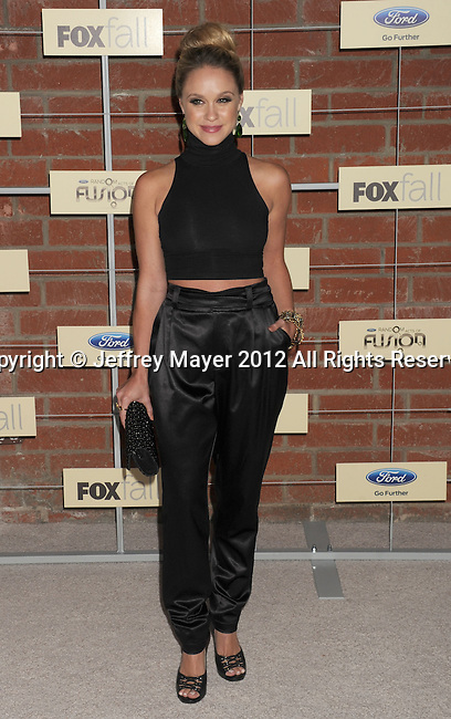 =Culver City=, CA - SEPTEMBER 10: Becca Tobin arrives at the FOX Fall Eco-Casino Party at The Bookbindery on September 10, 2012 in Culver City, California.