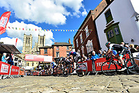 Picture by Allan McKenzie/SWpix.com - 14/05/2017 - Cycling - HSBC UK British Cycling Spring Cup Series  - Lincoln Grand Prix 2017 -<br /> Michael gate climb cathedral