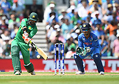June 18th 2017, The Kia Oval, London, England;  ICC Champions Trophy Cricket Final; India versus Pakistan; Imad Wasim of Pakistan hits a 4