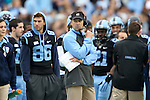 23 November 2013: UNC head coach Larry Fedora. The University of North Carolina Tar Heels played the Old Dominion University Monarchs at Keenan Stadium in Chapel Hill, NC in a 2013 NCAA Division I Football game. UNC won the game 80-20.