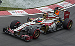 HRT Formula 1 Team driver Pedro de la Rosa of Spain speeds his F112 car during the F1 Grand Prix du Canada at the Circuit Gilles-Villeneuve on June 08, 2012 in Montreal, Canada. Photo by Victor Fraile / The Power of Sport Images