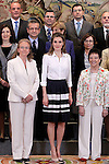 Princess Letizia of Spain attends audiences.May 8,2014. (ALTERPHOTOS/Acero)