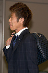 """Japan national football team, Yoichiro Kakitani, June 27, 2014, Chiba, Japan - Yuya Osako arrives at Narita International Airport with other members of the Japan national football team. Members of the Japan national football team arrives at Narita with a disappointed look on their faces. They couldn't advance to the final 16 in """"2014 FIFA World Cup Brazil"""" and came back earlier. (Photo by Rodrigo Reyes Marin/AFLO)"""