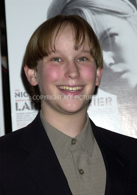 """Miles Purinton at the screening of """"Dogville"""" during the NY Film Festival. New York, October 4, 2003. Please byline: NY Photo Press.   ..*PAY-PER-USE*      ....NY Photo Press:  ..phone (646) 267-6913;   ..e-mail: info@nyphotopress.com"""