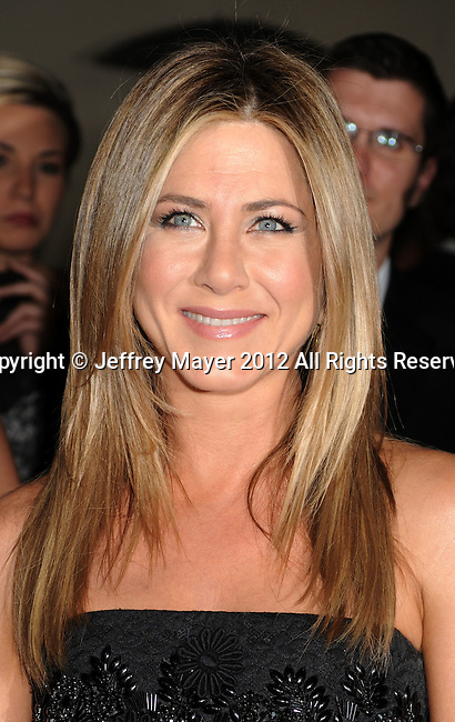 HOLLYWOOD, CA - JANUARY 28: Jennifer Aniston  arrives at the 64th Annual Directors Guild Of America Awards at the Grand Ballroom at Hollywood & Highland Center on January 28, 2012 in Hollywood, California.