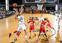Florida International University guard Cameron Bell (10) plays against Western Kentucky University, which won the game 61-51 on January 28, 2012 at Miami, Florida. .