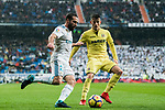 Daniel Carvajal Ramos (L) of Real Madrid battles for the ball with Daniel Rabaseda Antolin, Raba, of Villarreal CF during the La Liga 2017-18 match between Real Madrid and Villarreal CF at Santiago Bernabeu Stadium on January 13 2018 in Madrid, Spain. Photo by Diego Gonzalez / Power Sport Images