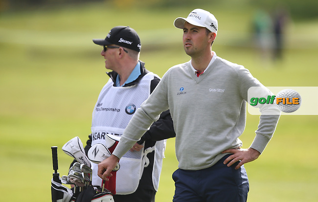 Niall Kearney (IRL) during Round One of the 2015 BMW PGA Championship over the West Course at Wentworth, Virginia Water, London. Picture David Lloyd, www.golffile.ie: 21/05/2015