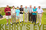President Prize hopefuls pictured here on Sunday at Waterville Golf Club were l-r; Conor Maher, Mike Flaherty, She Flaherty, Aidan O'Connell, President William O'Driscoll, Jim Browne, James O'Connor & Crohan O'Shea.