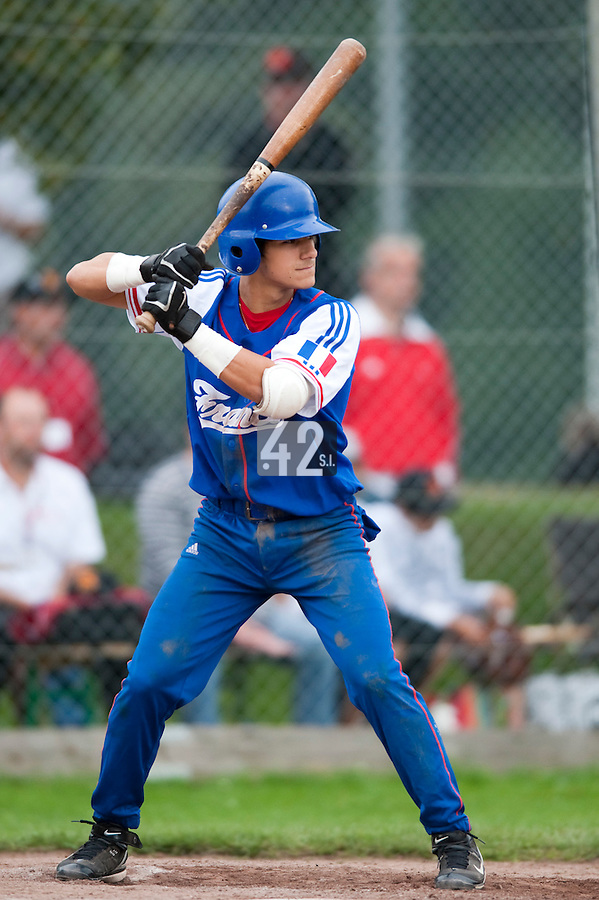Baseball - 2009 European Championship Juniors (under 18 years old) - Bonn (Germany) - 03/08/2009 - Day 1 - Maxime Lefevre (France)