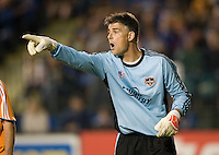 13 September 2008: Dynamo goalkeeper Pat Onstad in action during the game against the Earthquakes at Buck Shaw Stadium in Santa Clara, California.   San Jose Earthquakes tied Houston Dynamo, 1-1.