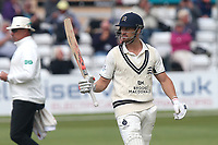 Nick Compton of Middlesex celebrates scoring a half-century, 50 runs during Essex CCC vs Middlesex CCC, Specsavers County Championship Division 1 Cricket at The Cloudfm County Ground on 29th June 2017